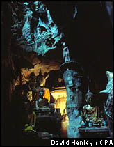 Buddha images deep within the Chiang Dao Caves