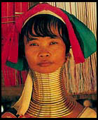Long neck Padaung tribal woman